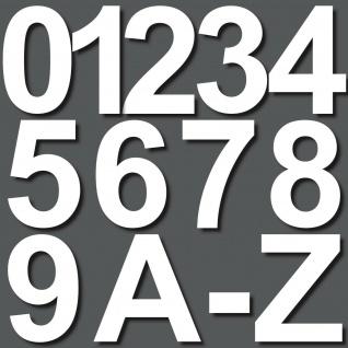 15cm weiß Aufkleber Hausnummer Wunsch Wahl Nr Nummer Zahl Ziffer Buchstabe ABC