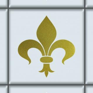 Florenz Lilie 8cm gold Aufkleber Tattoo Fliesen Spiegel Glas Tür Auto Deko Folie