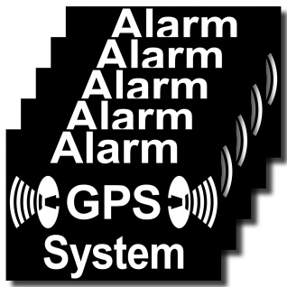 GPS Alarm System Aufkleber 7cm Sticker Fahrrad Rollladen Fenster Auto Außenseite