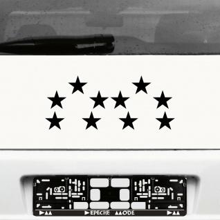 10 Klebesterne 5cm schwarz Sterne Auto Fenster Aufkleber Tattoo decal Deko Folie