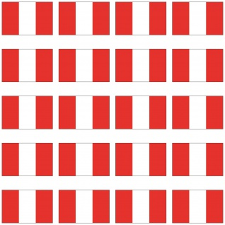 20 Aufkleber 2cm Peru PER PE Länder Fahne Flagge Mini Sticker RC Modellbau Deko