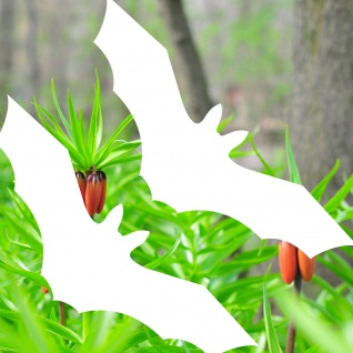Fledermaus Aufkleber Tattoo 30cm weiß Vampir Warnvogel Vogel Vögel Warnvögel