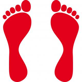 1 Paar 2 Füße 25cm rot Fuß Abdruck Spur Aufkleber Auto Möbel Tattoo Deko Folie