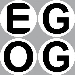 Aufkleber 10cm EG OG wählbar Sticker Obergeschoss Erdgeschoss Etage Stockwerk