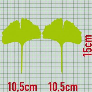 1 Paar 2 Blätter 15cm grün voll Ginkgo Blatt Aufkleber Tattoo Ginko Gingko Folie - Vorschau 2