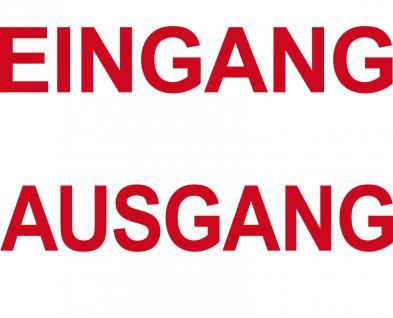 2 Aufkleber 35cm rot EINGANG + AUSGANG Tür Hinweis Schriftzug Tattoo Deko Folie