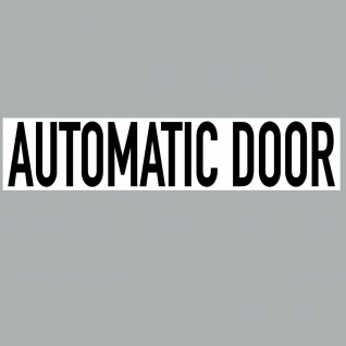 Aufkleber 20cm Sticker automatic door Hinweis automatik Tür Schild 4061963068540