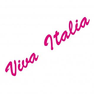 20cm pink Viva Italia Schriftzug Aufkleber Tattoo Auto Tür Fenster Deko Folie