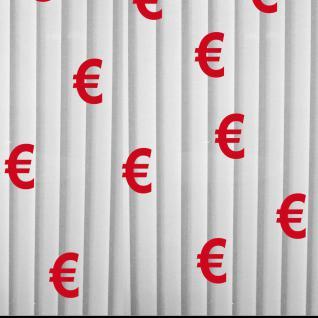 10 Aufkleber rot 12cm Euro Zeichen Symbole Schaufenster Fenster Deko Folie
