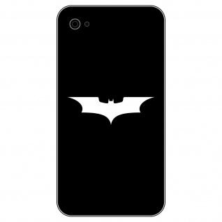 6 Aufkleber Tattoo 5cm weiß Batman neu Fledermaus Handy smartphone Deko Folie