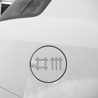 2 Aufkleber 9cm silber Stäbchen Symbol Tattoo Deko Auto Tür Folie Depeche Mode