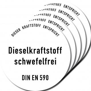 5 Aufkleber 10cm Sticker DIESEL Kraftstoff Auto Pkw Tankdeckel Kanister Behälter