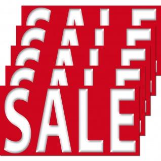 5 Aufkleber SALE Sticker 20cm Verkauf Aktion Rabatt Angebot Hinweis Ausverkauf