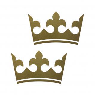 12cm gold Krone König Aufkleber Tattoo Kinder Zimmer Auto Heck Fenster Tür Möbel