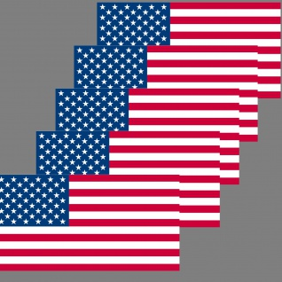5 Aufkleber 6, 5cm Sticker USA Amerika US Flag Fußball Fan EM WM Flagge Fahne - Vorschau 2