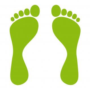 1 Paar 2 Füße 15cm Füßchen Kinder Fuß Abdruck Spur Aufkleber Tattoo Deko Folie