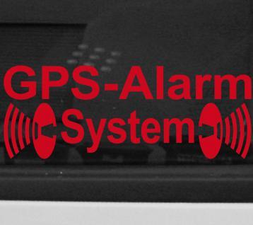 GPS Alarm System Aufkleber Tattoo Folie Auto Haus Balkon Laden Fenster Tür Glas