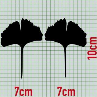 1 Paar 2 Blätter 10cm schwarz Ginkgo Blatt Aufkleber Tattoo Gingko 4061963037706 - Vorschau 2