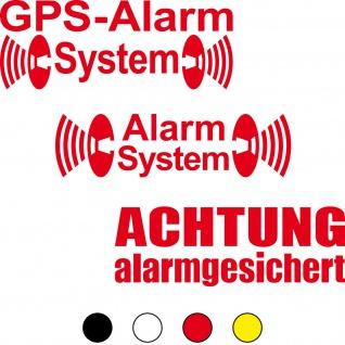 Achtung GPS Alarm System Alarmgesichert Warn Aufkleber Tattoo Folie Klebefolie