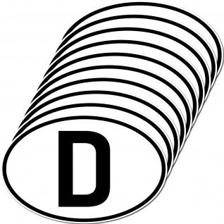 10 Aufkleber D Sticker Deutschland Länderkennung Länderkennzeichen 4061963019726