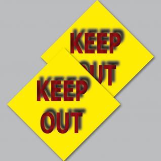2 Aufkleber 10cm Tür Sticker Keep Out draußen bleiben Nicht betreten reinkomme