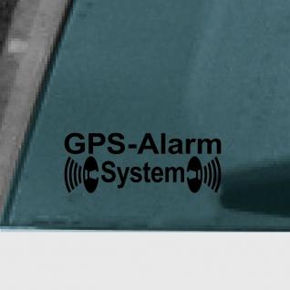 Aufkleber Tattoo GPS Alarm System schwarz Auto Fenster Außen getönte Scheibe