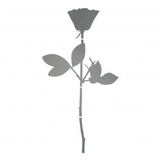 Rose 50cm silber Auto Tür Fenster Möbel Deko Folie Depeche Mode Aufkleber Tattoo