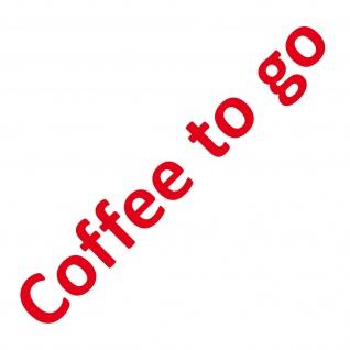 Schriftzug Coffee to go 50cm rot Aufkleber Tattoo Deko Folie Schaufenster Glas