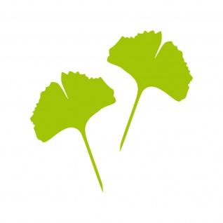 1 Paar 2 Blätter 15cm grün voll Ginkgo Blatt Aufkleber Tattoo Ginko Gingko Folie