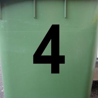 1 Stück 12cm schwarz Aufkleber Tattoo Hausnummer Wunschziffer Zahl Nummer Ziffer - Vorschau 2