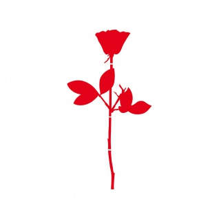 Rose 20cm rot Auto Tür Fenster Möbel Deko Folie Depeche Mode Aufkleber Tattoo