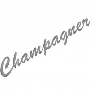 Champagner 37cm silber Schriftzug Wandtattoo Aufkleber Tattoo Deko Folie Küche
