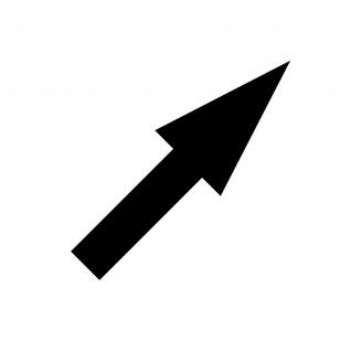 Aufkleber Pfeil 10cm schmal schwarz Tattoo Auto Tür Weg Hinweis Lauf Richtung