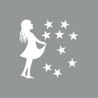 15cm Sterntaler + 2, 5cm Sterne weiss Aufkleber Folie Sternfänger 4061963041857