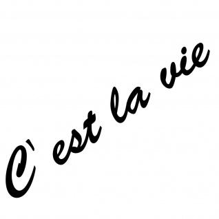 20cm schwarz C est la vie Schriftzug Aufkleber Tattoo Auto Tür Fenster Folie