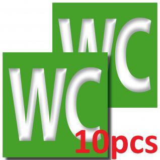10 Aufkleber 10cm WC Sticker Toilette Tür 00 Bad Hinweis Zeichen Symbol - Vorschau