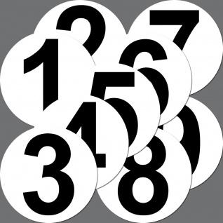 2 Aufkleber 20cm Sticker Start Auto Mülleimer Garage Nummer Zahl Ziffer Racing