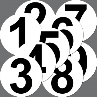 4 Aufkleber 15cm Sticker Startnummer Racing Nummer Nr Auto Motorrad Kart Sport