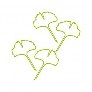 1 Paar 2 Blätter 12cm grün voll Ginkgo Blatt Aufkleber Tattoo Ginko Gingko Folie - Vorschau 3