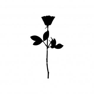 Rose 12cm schwarz Auto Tür Fenster Möbel Dekofolie Depeche Mode Aufkleber Tattoo