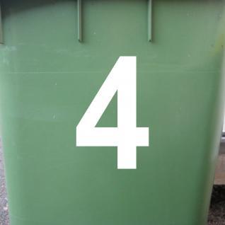1 Stück 12cm weiß Aufkleber Tattoo Hausnummer Wunschziffer Zahl Nummer Ziffer - Vorschau 2