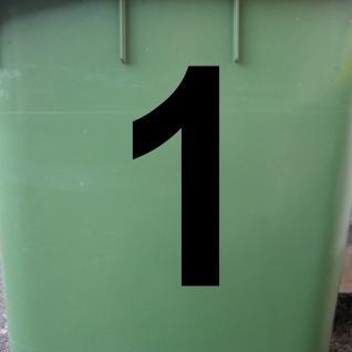 Ziffer 1 schwarz 15cm Aufkleber Tattoo Nummer Zahl Hausnummer Haus Tür Mülltonne - Vorschau 2
