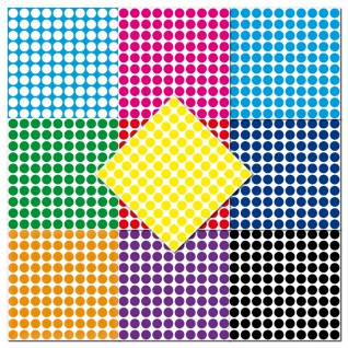 1000 Klebepunkte 5mm selbstklebend Punkt Aufkleber PVC Folie Etiketten Inventur