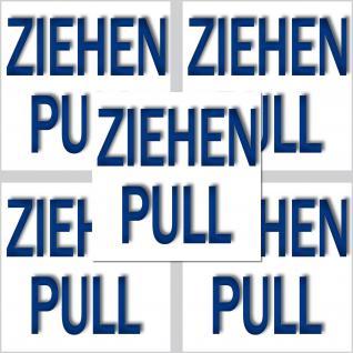 5 Aufkleber Sticker Ziehen Pull Tür Fenster Schalter Hebel Hinweis Information