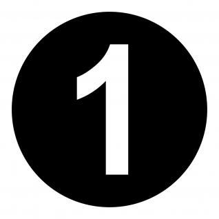 4 Startnummer Kreis 20cm Ziffer 15cm Set Aufkleber Deko Folie Auto Kart Motorrad