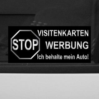 5 Aufkleber 6, 5cm Sticker STOP Visitenkarten Werbung ich behalte mein Auto