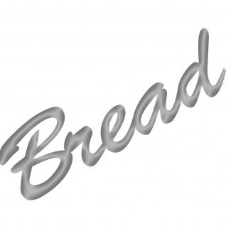 Bread 20cm silber Schriftzug Wandtattoo Aufkleber Tattoo Deko Folie Küche Theke