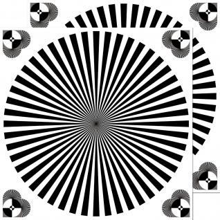 2 Aufkleber 10cm UV Siemensstern Weiß Grau Abgleich Kamera Auflösung Fokus Chart