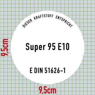 Aufkleber 10cm Super Benzin 95 E10 Kraftstoff Tankstelle Sticker Tank Zapfsäule - Vorschau 2