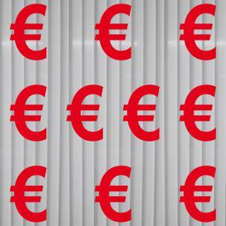 Aufkleber Euro Zeichen Symbol Logo Tattoo Schaufenster Deko Folie Rabatt Angebot